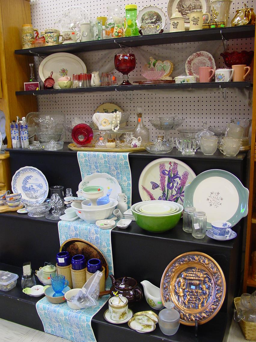 Antique dish collection has new items arriving every week.  All items must be picked up in the store.  We do not ship.