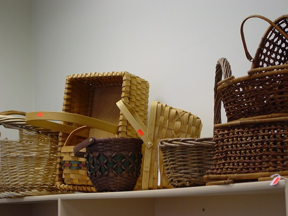 Baskets are wonderful organizers and unusual centerpieces.