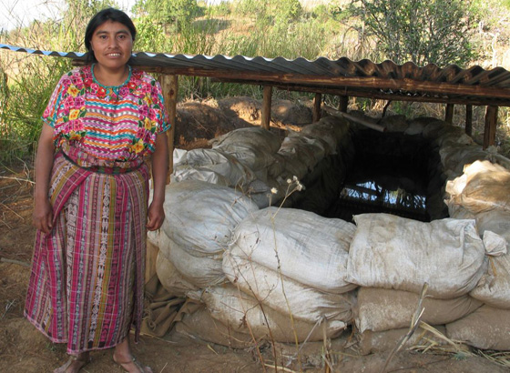 MCC water catchment system in Guatemala